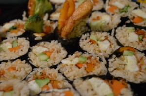 Grilled Vegetable and Panko Sushi with Brown Rice